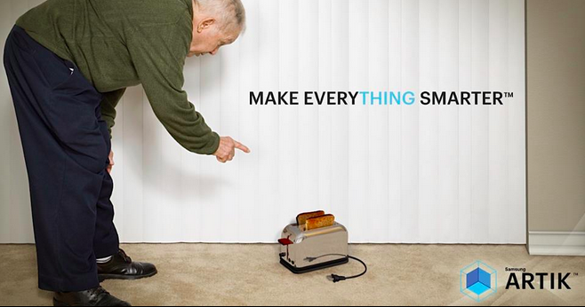 Old Man and toaster ad