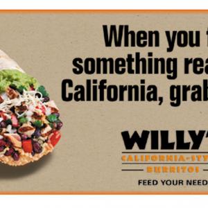 Willy's California-Style Burritos (SE U.S. Restaurant Chain)
