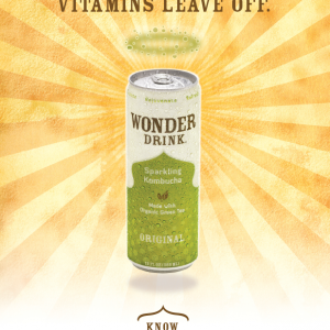Kombucha Wonder Drink: POS Campaign & Packaging
